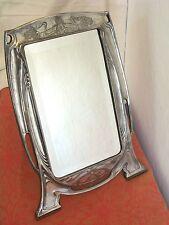 Jugenstil tischspiegel ARGENTOR WERKE Wien C.1900 silverplate mirror toilette