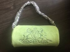 VINTAGE TERRY LIME GREEN DAY EVENING PURSE BAG SHOULDER CHAIN FAITH HOPE LOVE