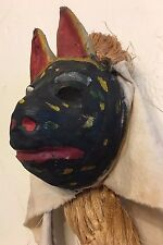 Unique Vtg Fariseo Animal Queretaro Mask Carnival Mask Mexico Folk Art - Rare