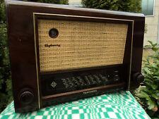 telefunken rhythmus 52 radio antigua de madera valvula de sonido