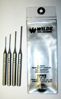 4 PIECE ROLL (SPRING) PIN PUNCH SET, Wilde Tool™, w/ pouch, U.S. Made Gunsmith