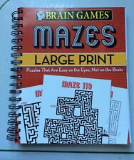Brain Games-Mazes-Large Print-150 Puzzles/Pre-owned