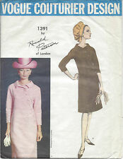 1960s Vintage VOGUE Sewing Pattern B34 DRESS (R971) BY RONALD PATERSON