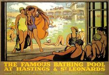 A3 Travel Art Poster Hastings and St Leonards Railway