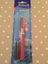 Pelikano R481 mano izquierda Roller Ball Pen Rojo-con 2 km Cartuchos de Tinta Azul