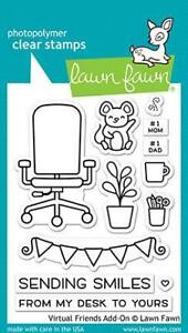 Lawn Fawn Virtual Friends Add-on Stamp  12pc