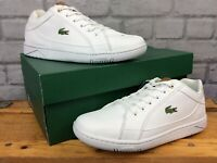 LACOSTE MENS UK 6 EU 39.5 WHITE BROWN DEVIATION II TRAINERS RRP £70 LD