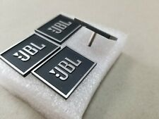Two New JBL metal Speaker Grille Badges. Silver Lettering on Black.