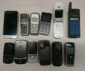 Joblot Bundle of 12 Mobile Phones Various UNTESTED SPARES & REPAIRS