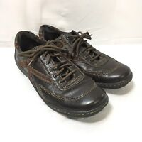 Boc Born Concept Womens 8/39 Brown Suede & Leather Casual Lace Up Oxfords Shoes