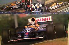 Nigel Mansell 1992 F1 World Motor Racing Champion 1st On Ebay! Car Poster!!