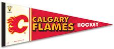 Calgary Flames Vintage NHL 1980-94 Style Premium Felt Collectors PENNANT