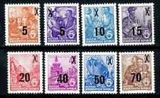 Germany DDR 1953 / 1954 Revalued Issues Complete Set of 8 MH Scott's 216 to 223
