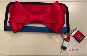 NWT Harveys seatbelt bags Bow clutch wallet spangled