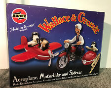 BNIB AIRFIX 50100 WALLACE AND GROMIT AEROPLANE, MOTORBIKE AND SIDECAR SET RARE