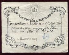 école libre de Notre-Dame du Mont-Roland . 1929