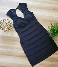 Enfocus Studio Classic Black Lace Dress