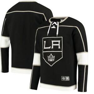 Fanatics Los Angeles Kings Breakaway Lace Up Pullover Sweatshirt Men Sz XL Black