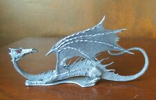 Ral Partha Pewter Winged Dragon 6 ¼� Long Red Eyes Figure Pp804