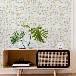 Fresco Grey/Ochre Honesty Floral Wallpaper