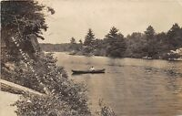 D14/ Black River Falls Wisconsin Wi Postcard Real Photo RPPC c1910 Boating River