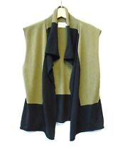 Masai Clothing Company Green Merino Wool Sleeveless Knit Open Cardigan XL (A9-B)