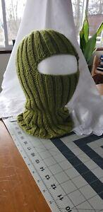 Handmade moss green Color Balaclava Ski Mask