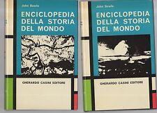 enciclopedia della storia del mondo - john bowle - casini editore 2 volumi - juh