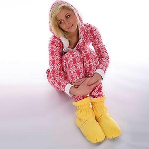 Cozy Toes Microwave Feet Warmer Slipper Boots Wheat Bag Heated Fleece Slippers