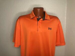 Men's Under Armour Golf S/S Polo Golf Shirt Size Extra Large (XL) ORANGE