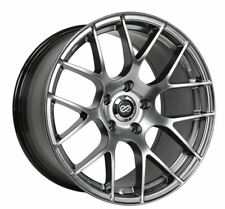 18x8 Enkei RAIJIN 5x112 +45 Hyper Silver Rims Fits audi A3 TT VW Jetta