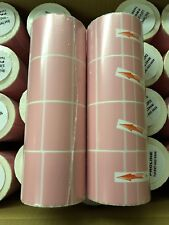 "4 Rolls of 4000 Thermal Labels Pink 2.25 x 1.25  ZEBRA 1"" Core Direct FBA Label"