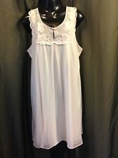 VTG. GAYMODE Pink CHIFFON Nightgown Gown Lingerie  Women's Size LARGE