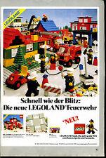 Lego--Legoland - Schnell wie der Blitz--Feuerwehr--Werbung von 1981--Grau-