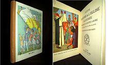 PETITE HISTOIRE de l'EGLISE ILLUSTREE dessin couleur BERTY Enfantina Church 1935