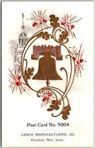 1910s Plainfield, New Jersey Postcard LENOX MANUFACTURING CO. Liberty Bell