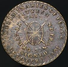 More details for 1801 preliminaries of peace of amiens 'peace commerce & plenty' token | km coins
