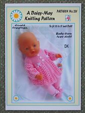 DOLLS KNITTING PATTERN to fit BABY BORN to fit 16/17ins doll No 261  Daisy-May