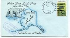 1981 Deadhorse Alaska Trudhoe Bay Polar Bear Local Post Polar Antarctic Cover