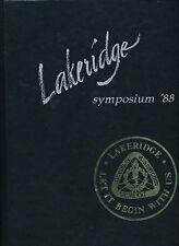 Lake Oswego OR Lakeridge High School yearbook 1988 Oregon