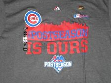 "Mlb Chicago Cubs ""Post Seasons is Ours"" Gray T-Shirt Large/L Nwt!"