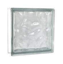 2 pieces Glass Blocks Glass Bricks Clear Wave Cloudy transparent 30x30x10 cm