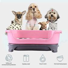 Puppy Dog Pet Cat Feeder Stainless Feeder Bowl Dish Food Feeding Weaning Bowl
