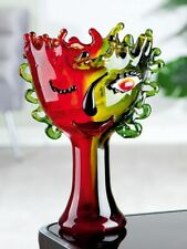 Magnificent Luxury Celebration to Picasso Art Glass Face Abstract Vase 30cm