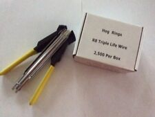 HOG RING PLIERS AND 2500 STAINLESS STEEL 304 HOG RING STAPLES