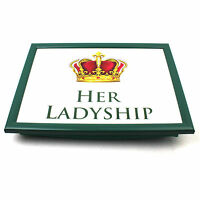 Lap Tray Serving Bean Bag TV Bed Soft Cushion Padded His Lordship & Her Ladyship
