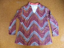 AUTOGRAPH Long Autumn Tones Top Size 18 NEW RRP$49.95 Quality Double Layer Top