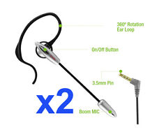 Universal 3.5mm Boom Mic Headset Over-the-Ear for LG G5 G4 G3 Cell Phones (2pcs)