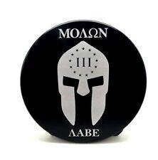 "MOLAN LABE, Billet Aluminum Trailer Hitch plug Cover, 4"" Round"