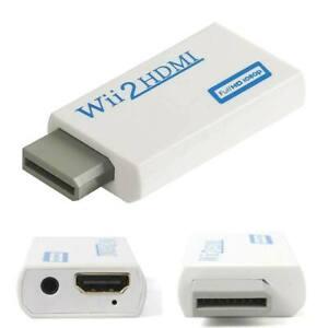 Entrada de Wii a HDMI 1080P Adaptador convertidor de salida de audio HD Conector